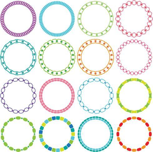 Mod Circle Frames Clipart vector