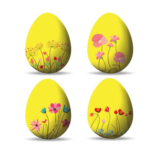 Impostare le uova di Pasqua e buona Pasqua