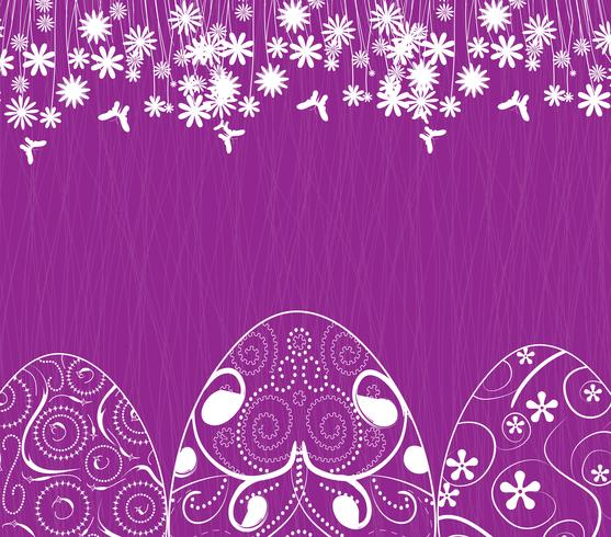 sfondo di Pasqua con ornamento di uova
