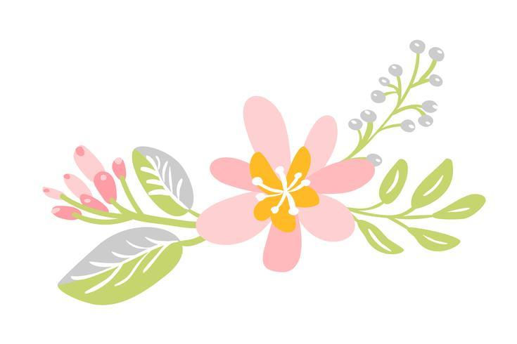 platt isolerad blomma på vit bakgrund
