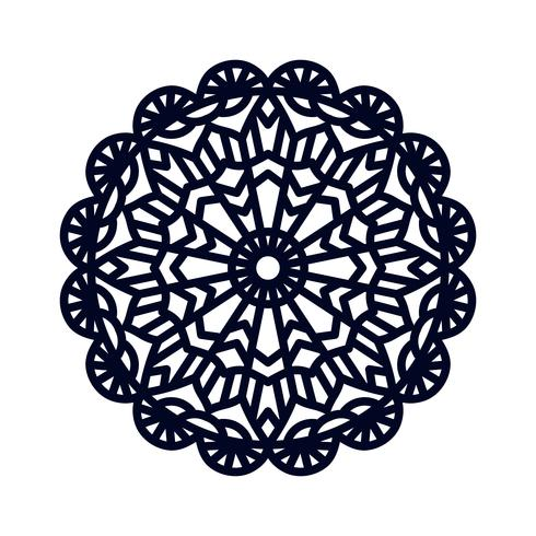 Mandala Méditation de mariage indien.