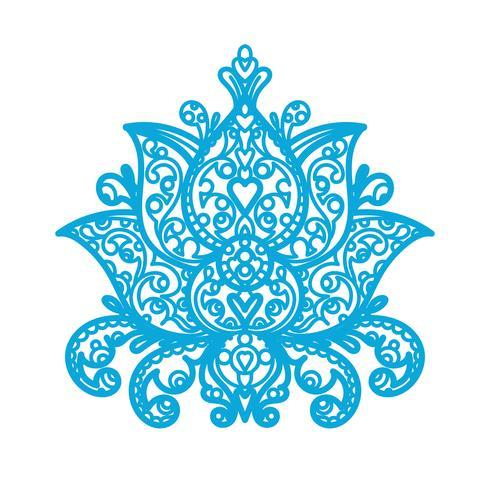 Ornamento Lotus - corte a laser de madeira