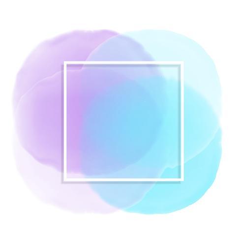 Vit ram på pastell akvarell bakgrund