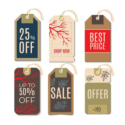 Tags with the sale of Christmas.  vector