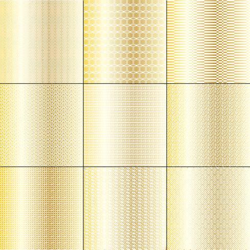 mod gold und weiße geometrische muster vektor