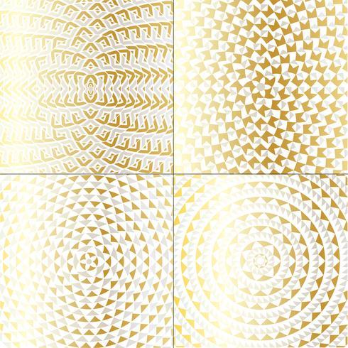 motifs de cercles métalliques dorés