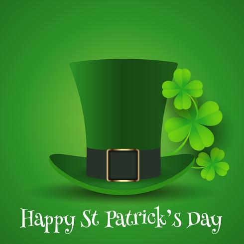 Hintergrund St. Patricks Day mit Zylinder und Shamrock