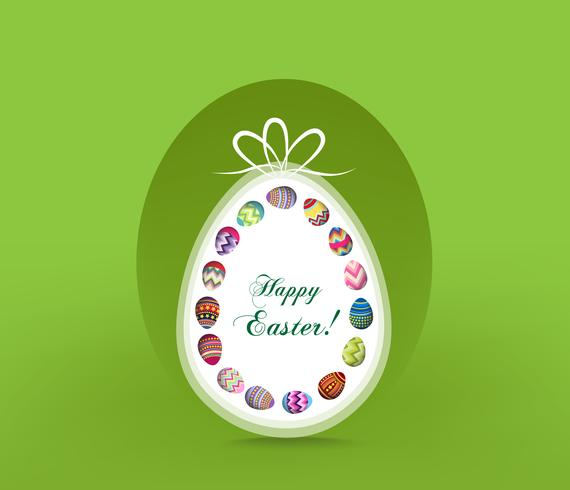Happy Easter. Typography lettering