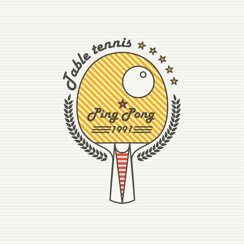Logo Ligue Tennis De Table. ping pong vecteur