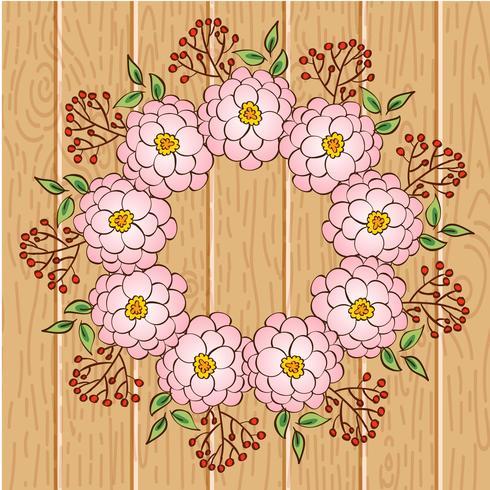 Kransram, kant av blommig prydnad