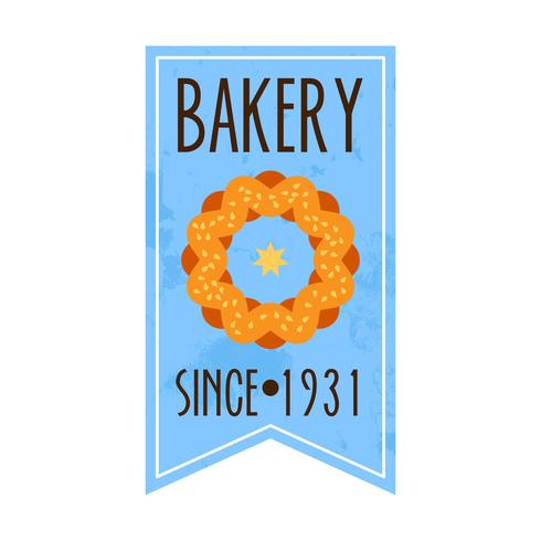 Colección de panadería retro vintage.