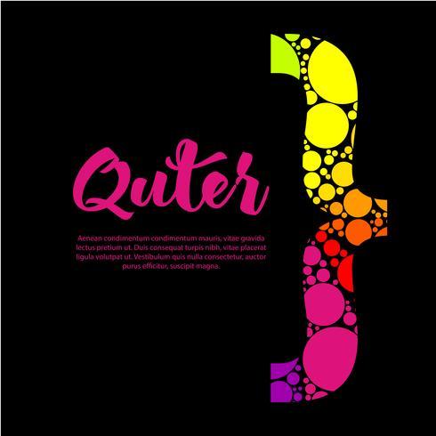 Diseño abstracto del cuadro de texto del arco iris con el soporte colorido y su texto