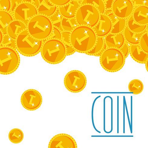 Warmer goldener festlicher glänzender Geldduschhintergrund