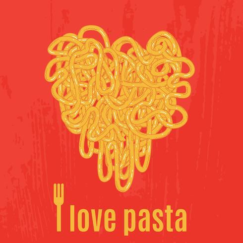 Cœur de spaghettis Affiche
