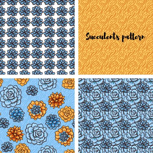 Trend of succulents patterns and stripes.