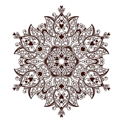 Mandala banner, Indian style. vector