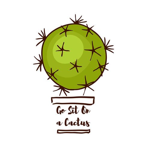 Citazione motivazionale Vai a sederti su un cactus