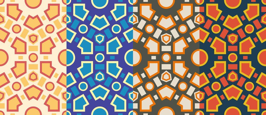 Modèle sans couture rétro hexagonale géométrique vecteur