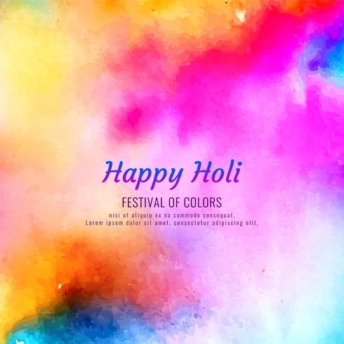 Abstrait Happy Holi beau fond