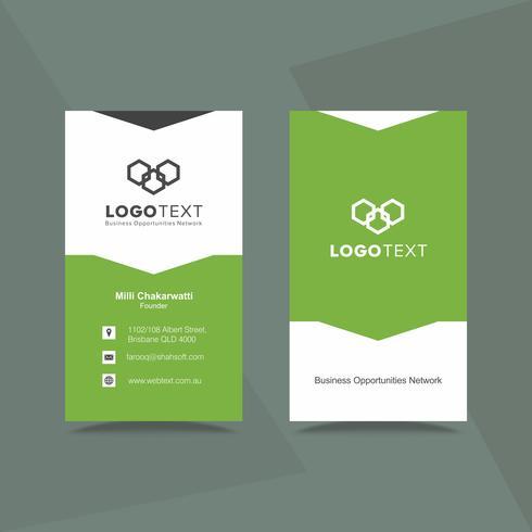 Professionelle Visitenkarte Designvorlage Download