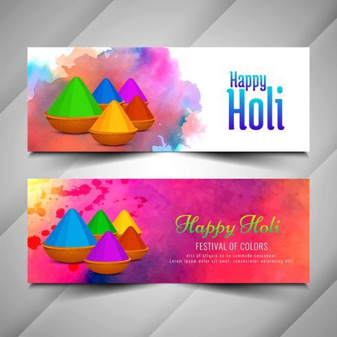 Schöne Holi Festivalfeierfahnen eingestellt
