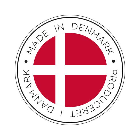 made in denmark flag icon.