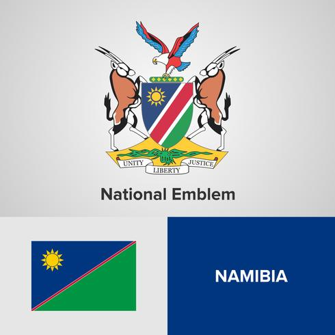Nationaal embleem, kaart en vlag