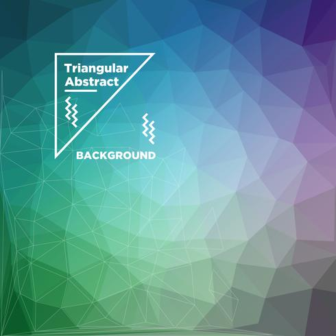 Triangular Polygonal Background vector