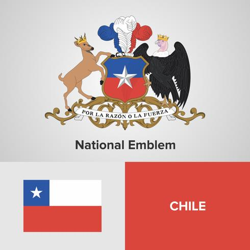 Nationales Emblem, Karte und Flagge