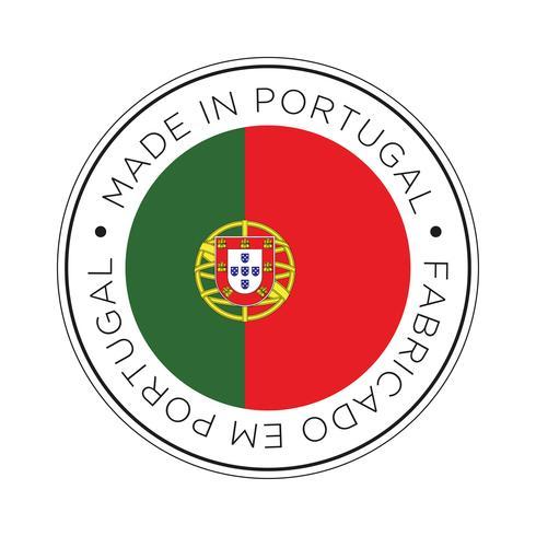 Fabriqué dans l'icône de drapeau du Portugal.