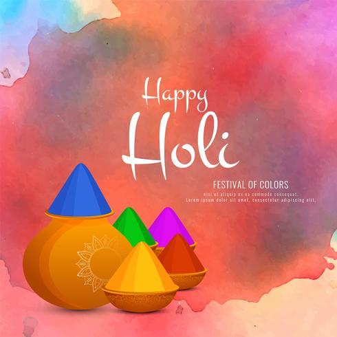 Abstrakter glücklicher Holi-Feierhintergrund