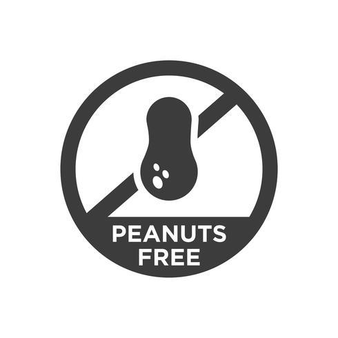 Amendoim grátis ícone. vetor