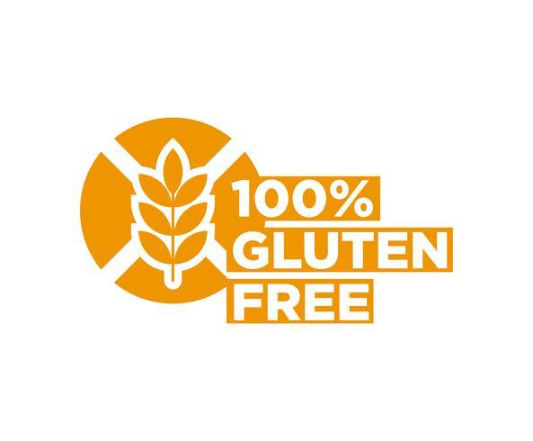 Glutenvrij vector pictogram.