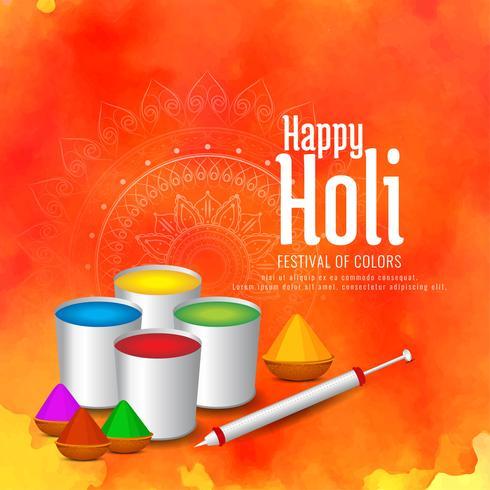 Résumé fond de festival indien Happy Holi