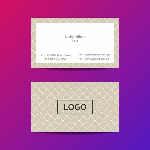 Plantilla de diseño de tarjeta profesional vector