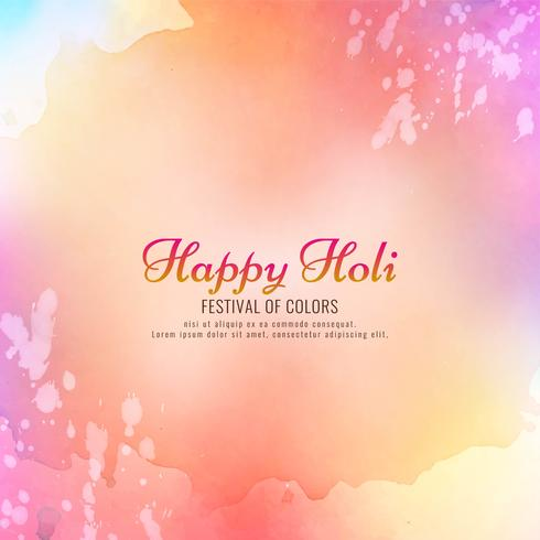 Bello disegno felice della priorità bassa di celebrazione di Holi