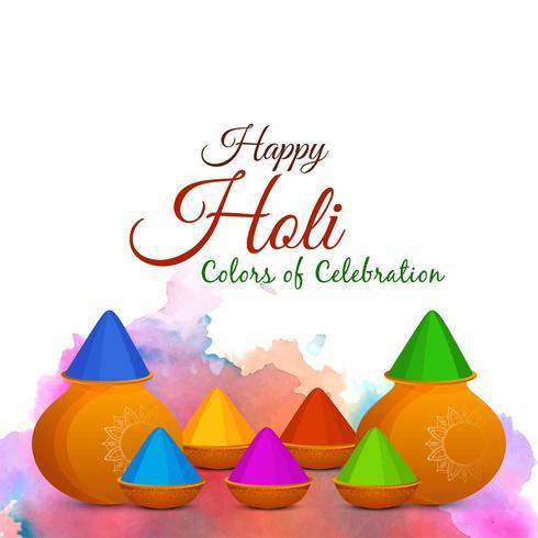 Abstrakter glücklicher indischer Festivalhintergrund Holi