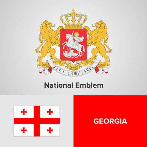 Georgia National Emblem, Map and flag