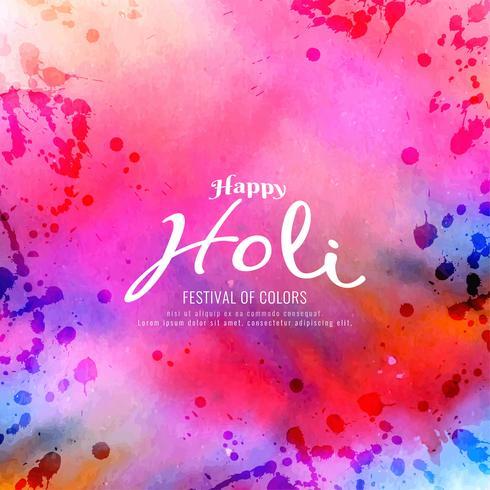 Abstraktes buntes glückliches Holi-Grußhintergrunddesign