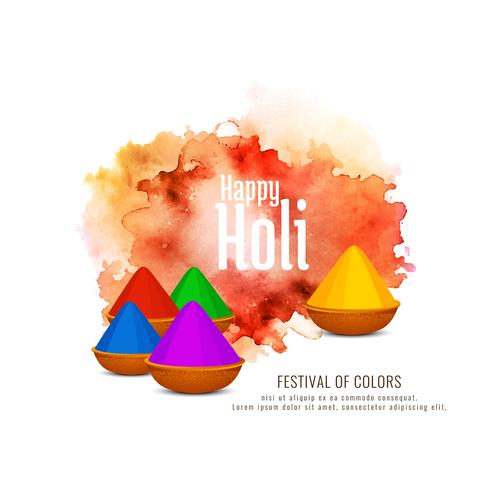 Beau design de fond de célébration Happy Holi