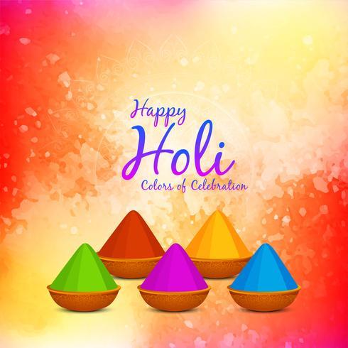 Abstrakter glücklicher Holi Festivalgrußhintergrund