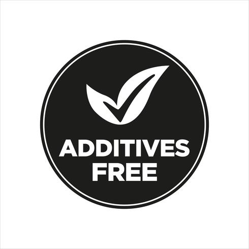 Additives free. vector