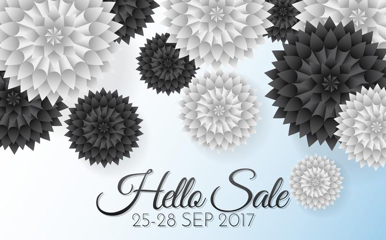 Sale Flowers Vector background