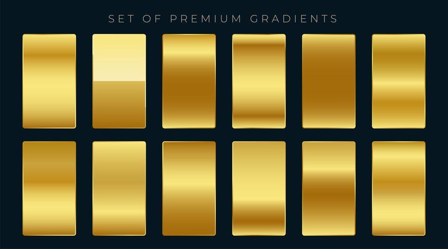 set premium di sfumature dorate