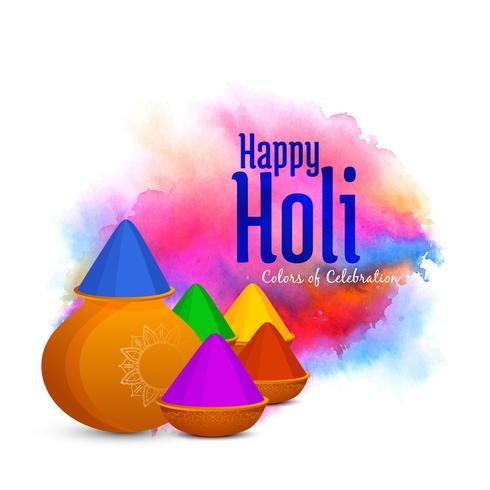 Fondo de festival indio abstracto feliz Holi