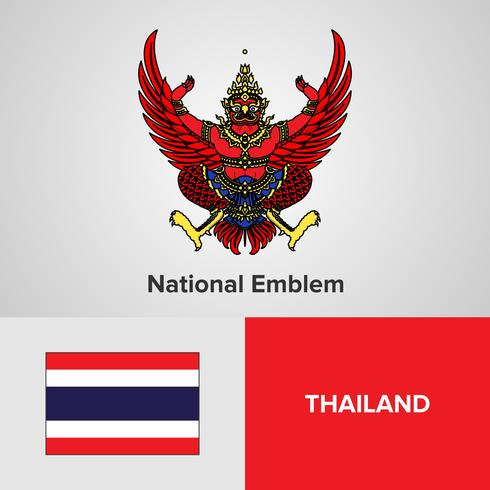National Emblem, Map and flag  vector
