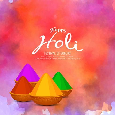 Résumé fond de célébration Happy Holi