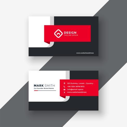 modello di biglietto da visita professionale rosso creativo