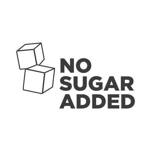 Icône sans sucre ajouté