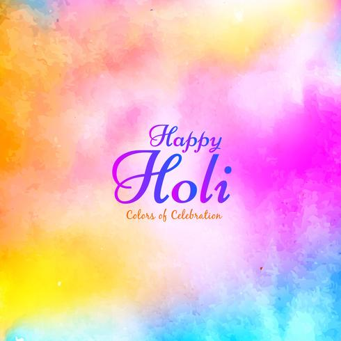 Résumé fond de voeux festival Happy Holi